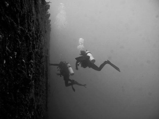Advanced divers explore the USS Spiegel Grove