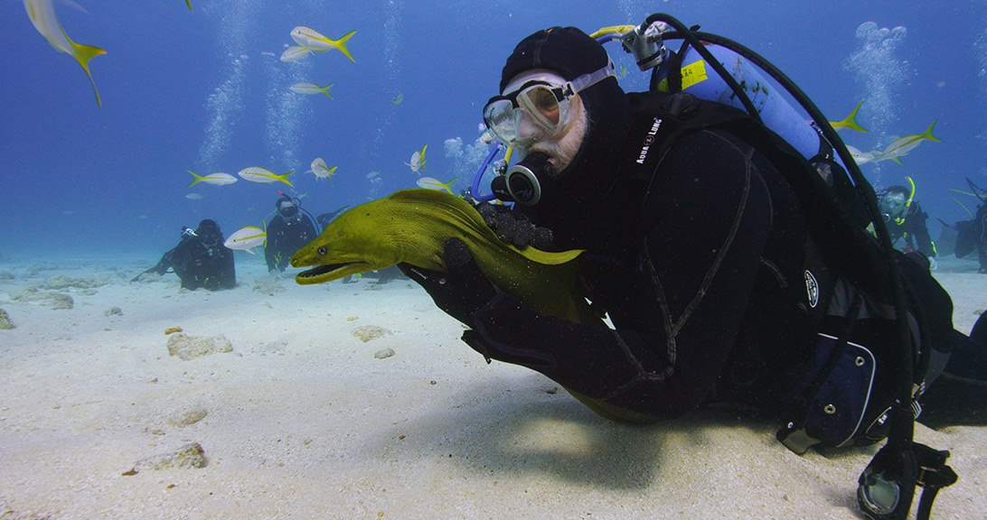 John and a Green Moray